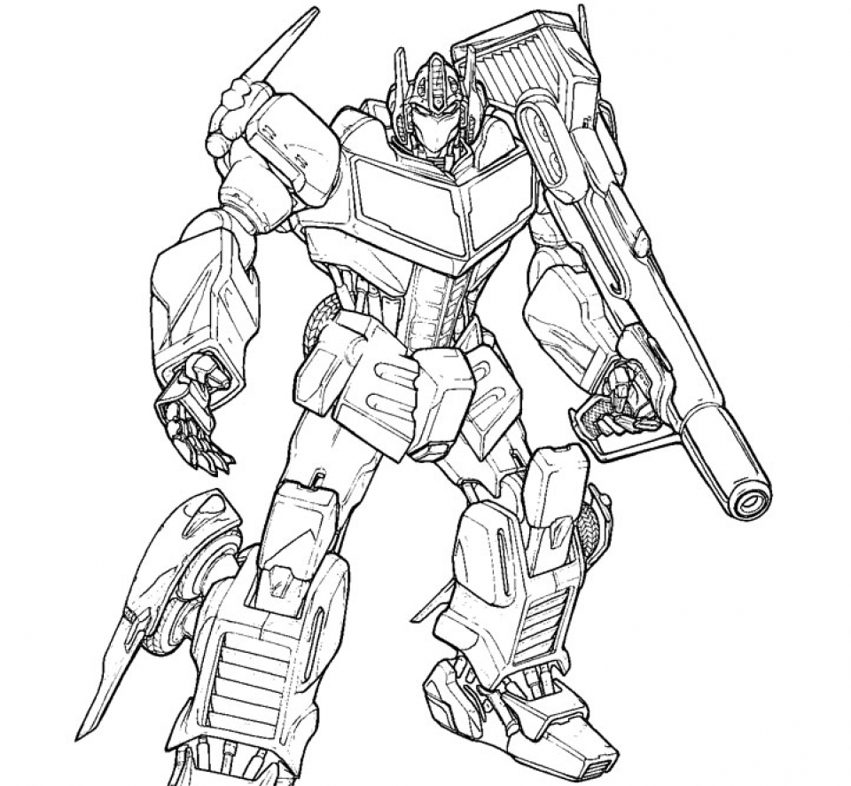 transformer coloring pages free - photo#31