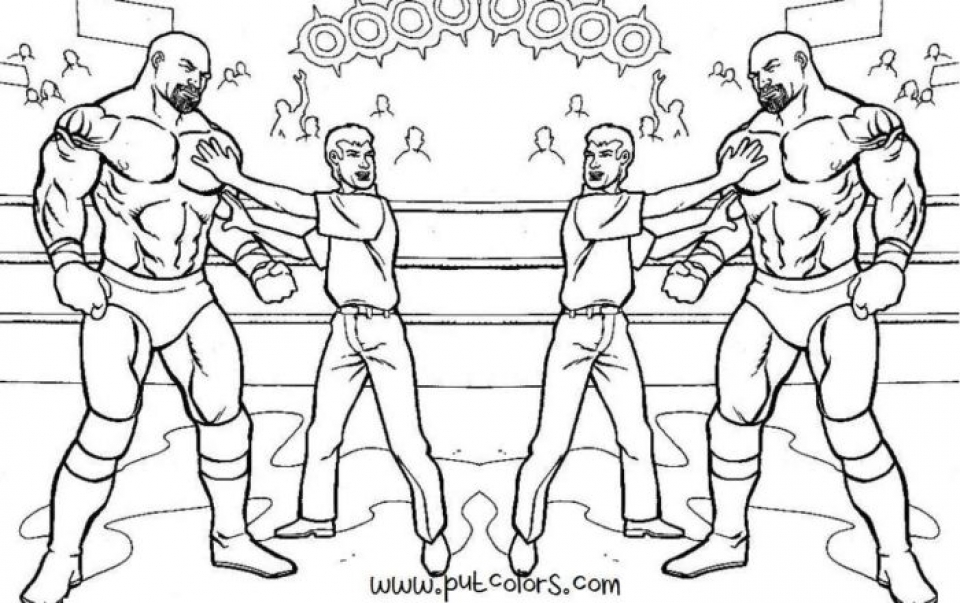 wwe coloring pages - Wwe Coloring Pages
