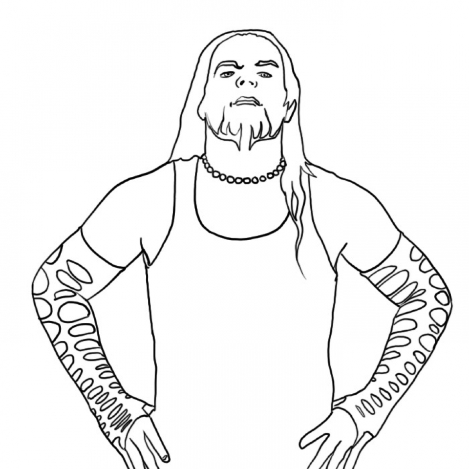 Get This Free WWE Coloring Pages