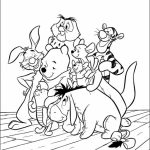 Fun Kids Printable Coloring Pages of Winnie the Pooh   14258