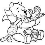 Fun Kids Printable Coloring Pages of Winnie the Pooh   25740