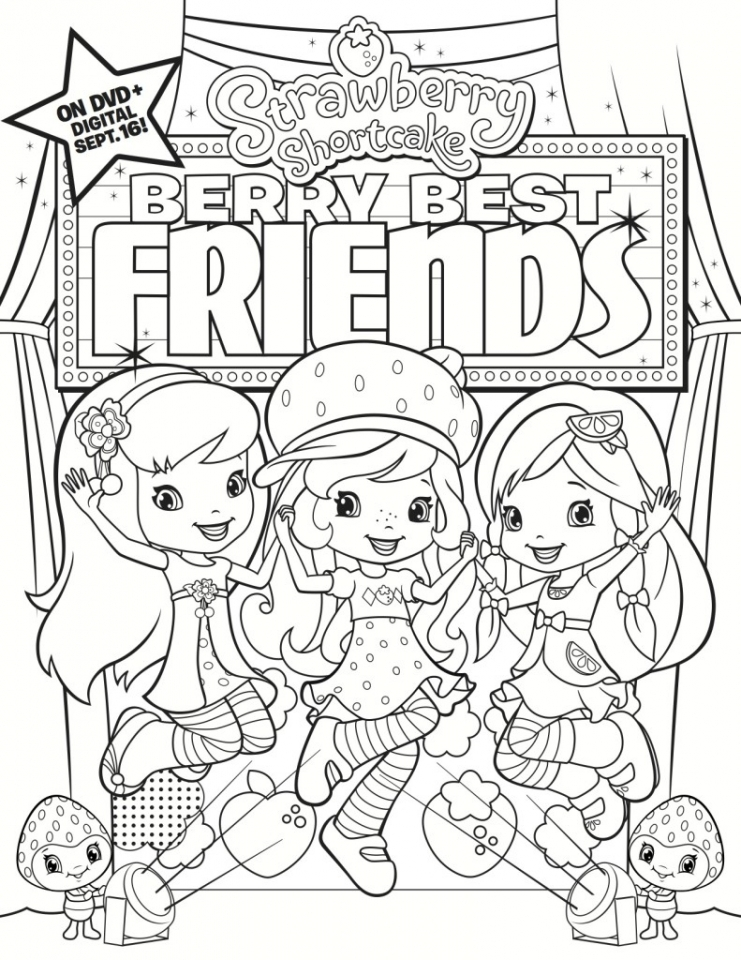 Fun Strawberry Shortcake Coloring Pages for Girls   09418