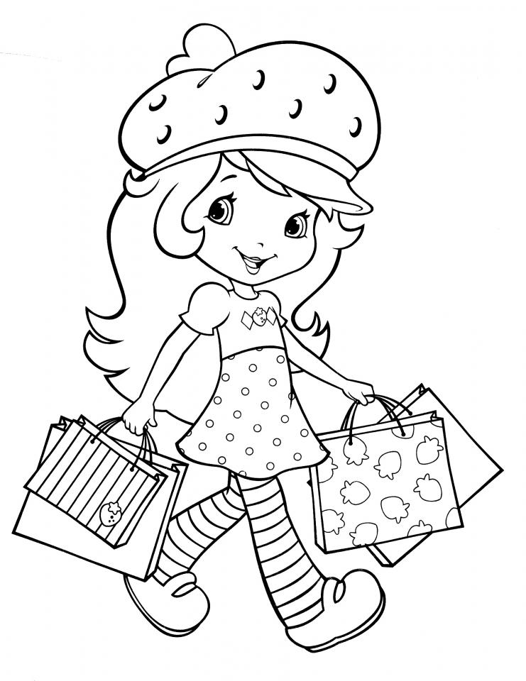 Get this fun strawberry shortcake coloring pages for girls for Strawberry shortcake coloring pages free printable