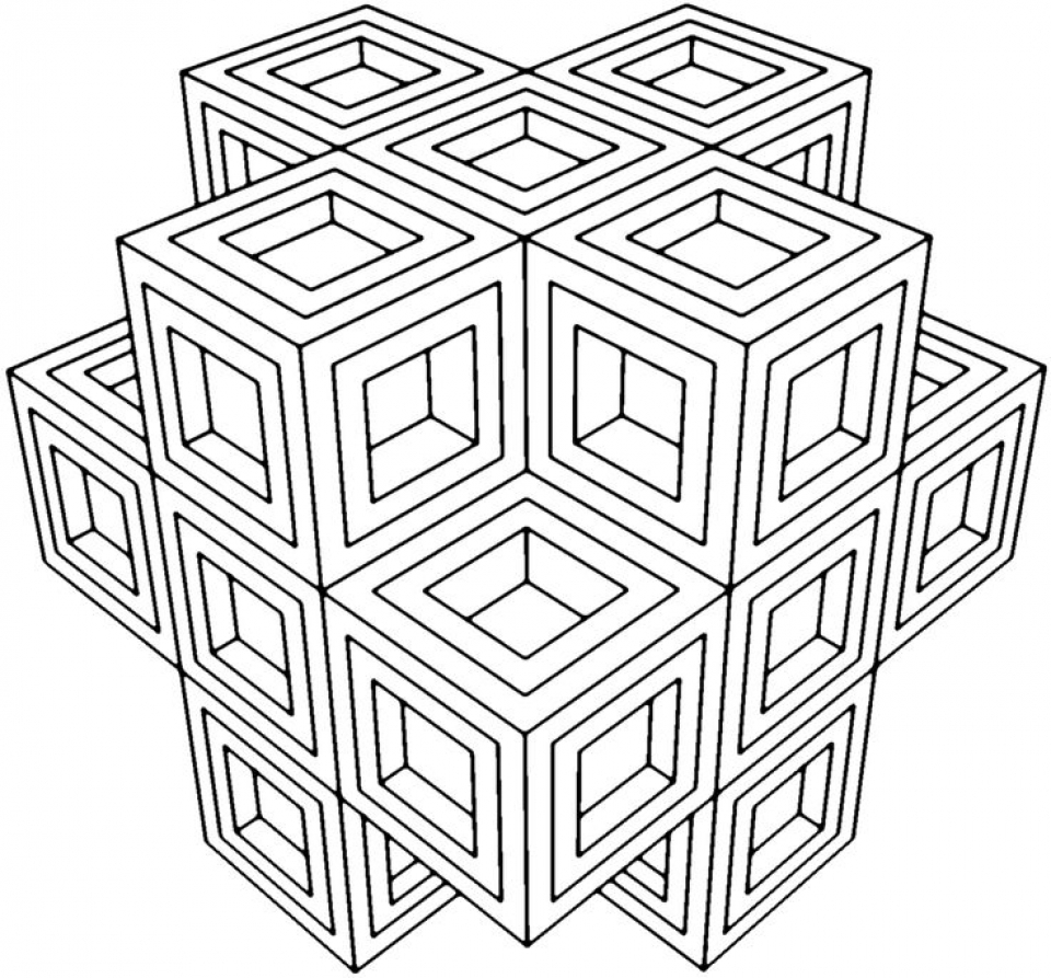 20 free printable geometric coloring pages for Geometric coloring pages online