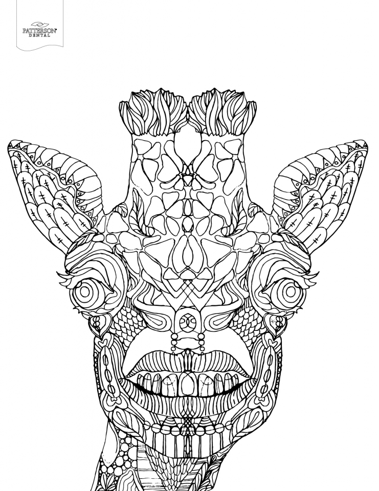 Giraffe Coloring Pages for Adults   06731
