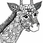 Giraffe Coloring Pages for Adults   73193
