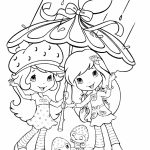 Girls Coloring Pages of Strawberry Shortcake Printable   07132