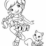 Girls Coloring Pages of Strawberry Shortcake Printable   36750