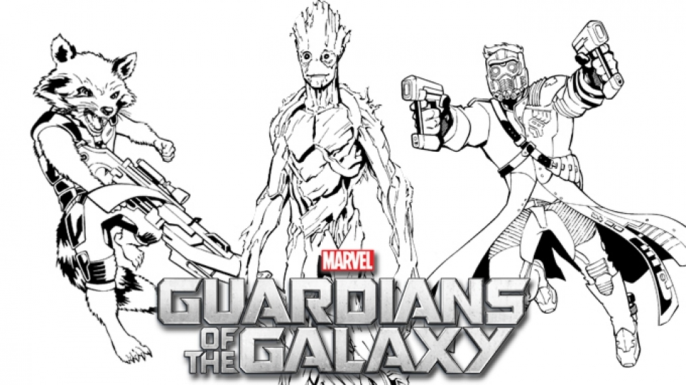 Coloring Pages Guardians Of The Galaxy : Free printable guardians of the galaxy coloring pages