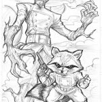 Guardians of the Galaxy Superheroes Coloring Pages Online   52637