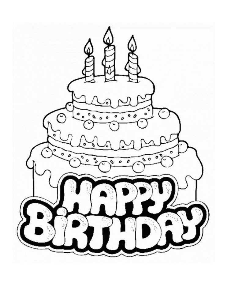 20+ Free Printable Happy Birthday Coloring Pages - EverFreeColoring.com