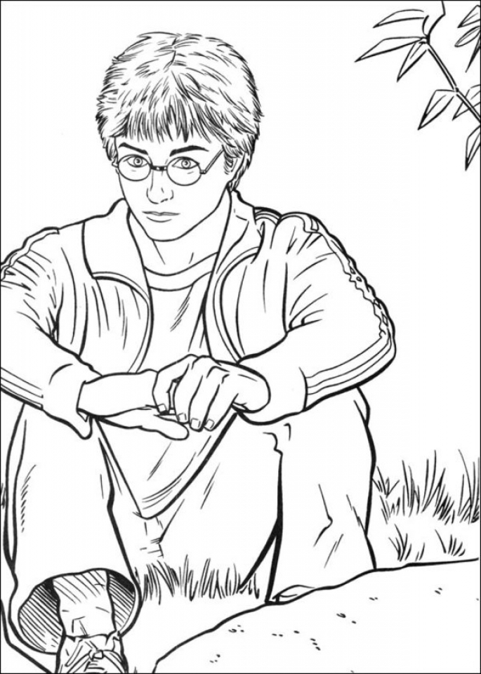 Get this harry potter coloring pages printable free 89562 for Free harry potter coloring pages
