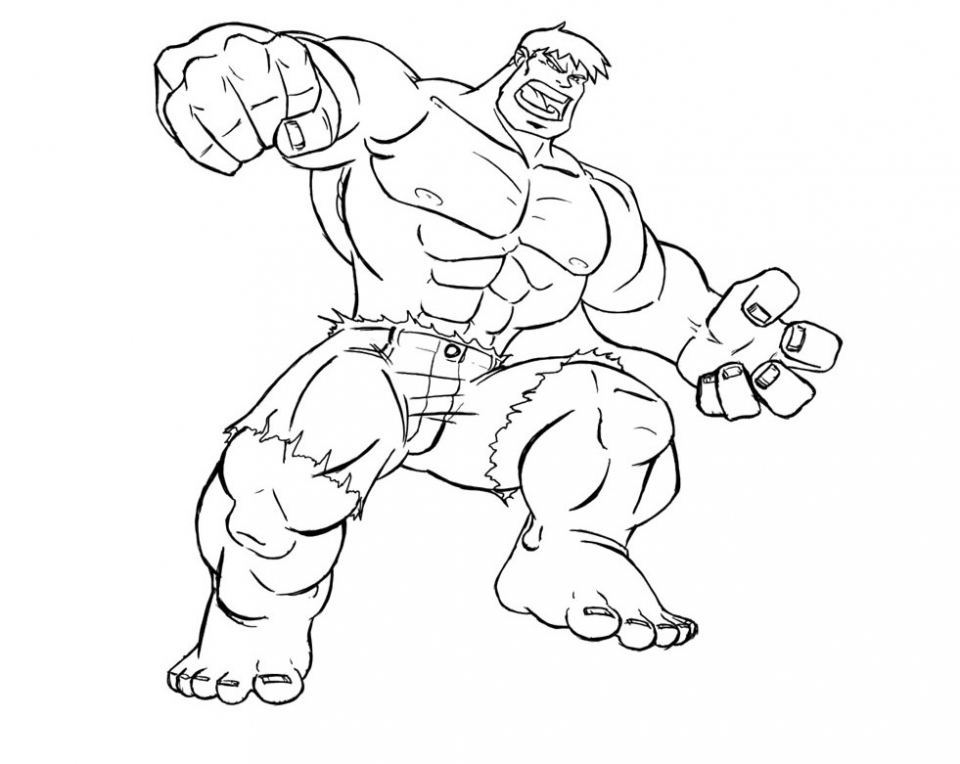 Hulk Coloring Pages for Boys   16371