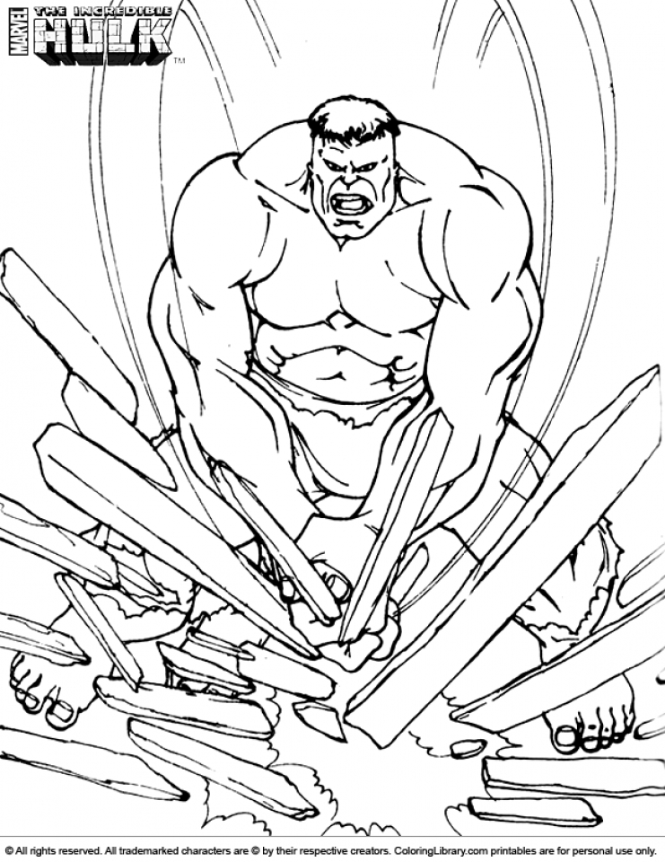 Hulk Coloring Pages Kids Printable   52174