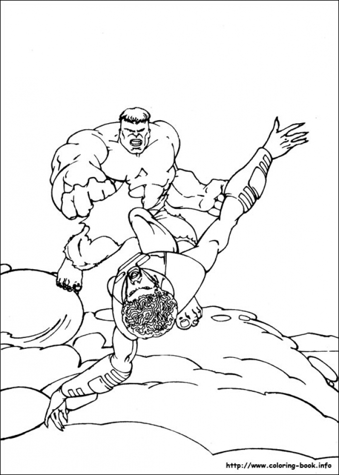 Hulk Coloring Pages Kids Printable   78592