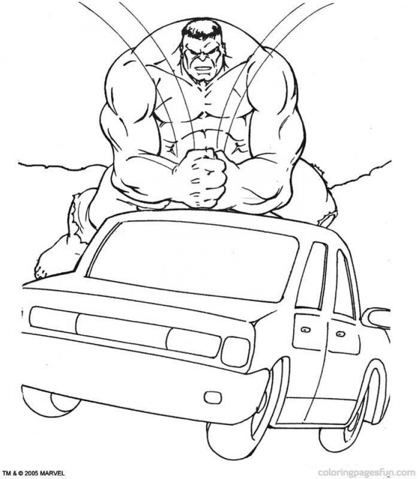 Hulk Coloring Pages Marvel Avengers   59182