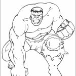 Hulk Coloring Pages Superheroes Printable   31749