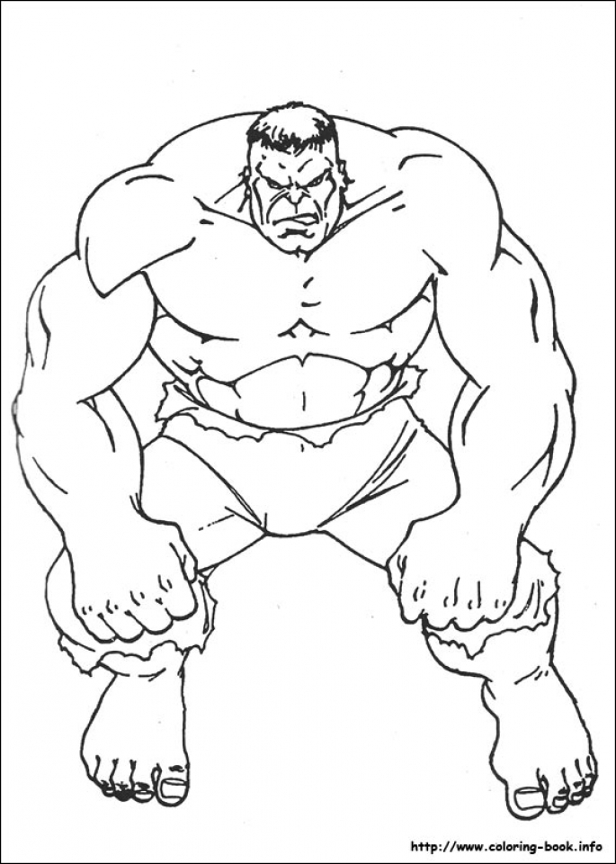 Get This Hulk Coloring Pages Superheroes Printable 38961