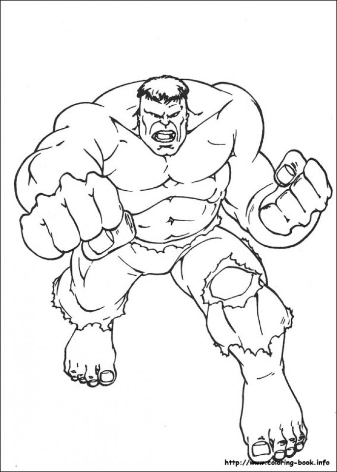 Hulk Coloring Pages Superheroes Printable   67128