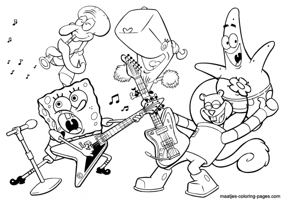 music coloring pages - Music Coloring Pages