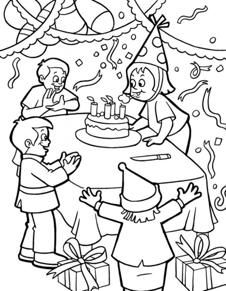 Kids Printable Happy Birthday Coloring Pages Fun   05701