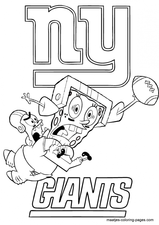 kids printable nfl football coloring pages online 63721