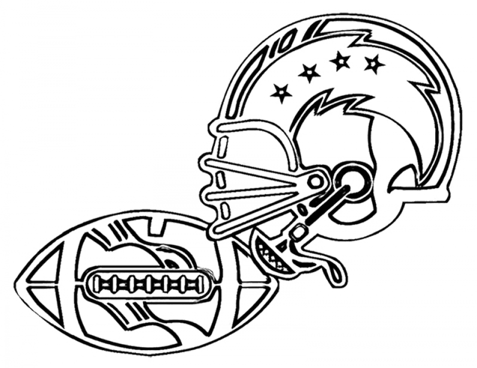 American Football Coloring Pages Kids Printable NFL