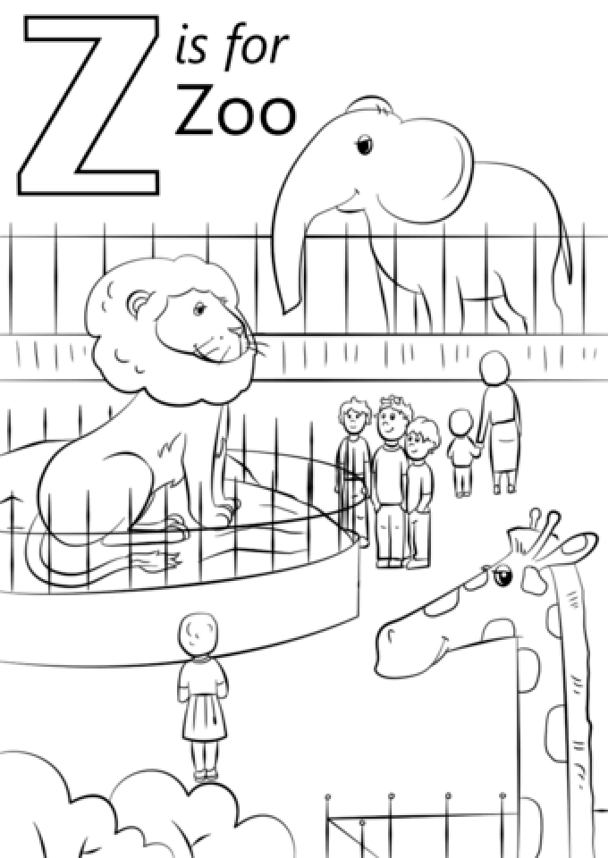 Get This Kids Printable Zoo Coloring