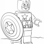 Lego Captain America Coloring Pages   90671