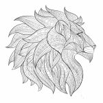 Lion Coloring Pages for Adults   96874