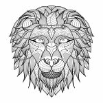 Lion Coloring Pages for Adults Printable   31662