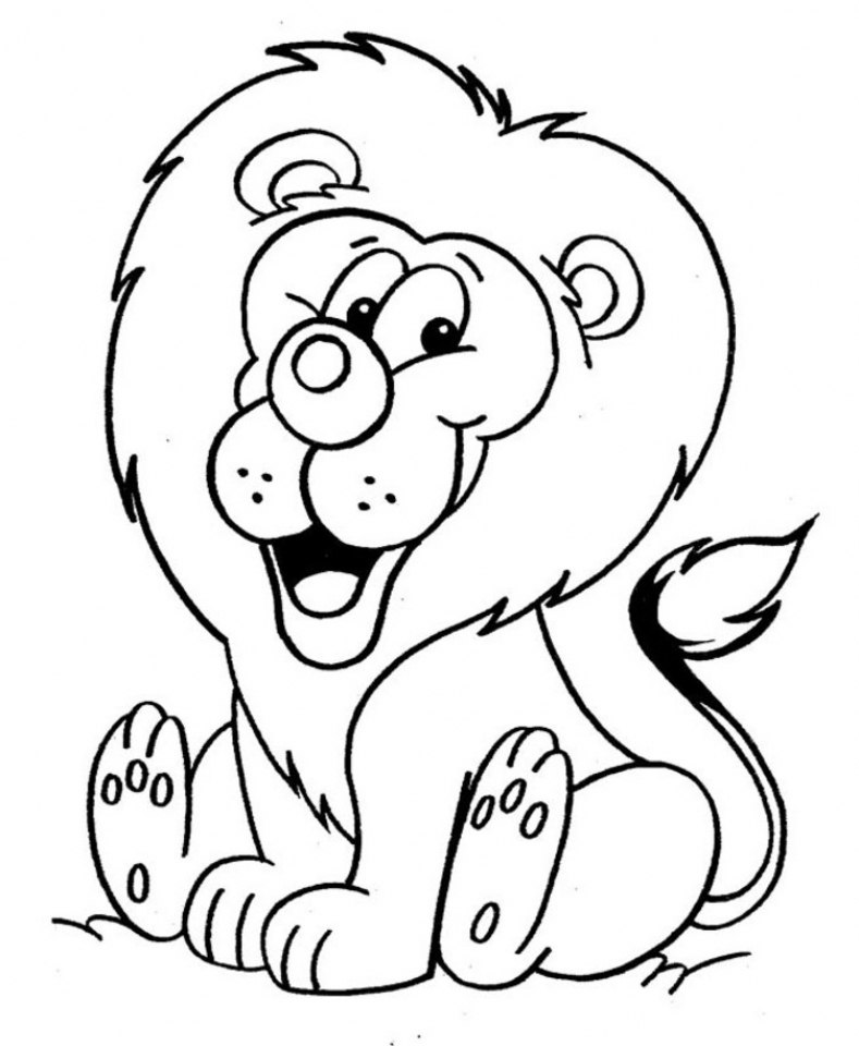 Lion Coloring Pages for Kids   89665