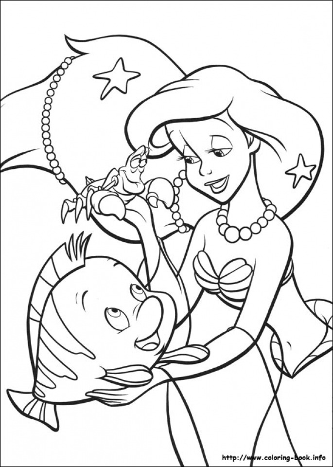 Little Mermaid Coloring Pages Princess Ariel   46750