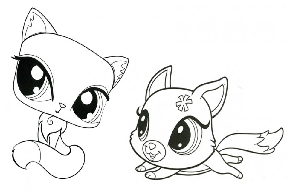 Как нарисовать петшопы кошки