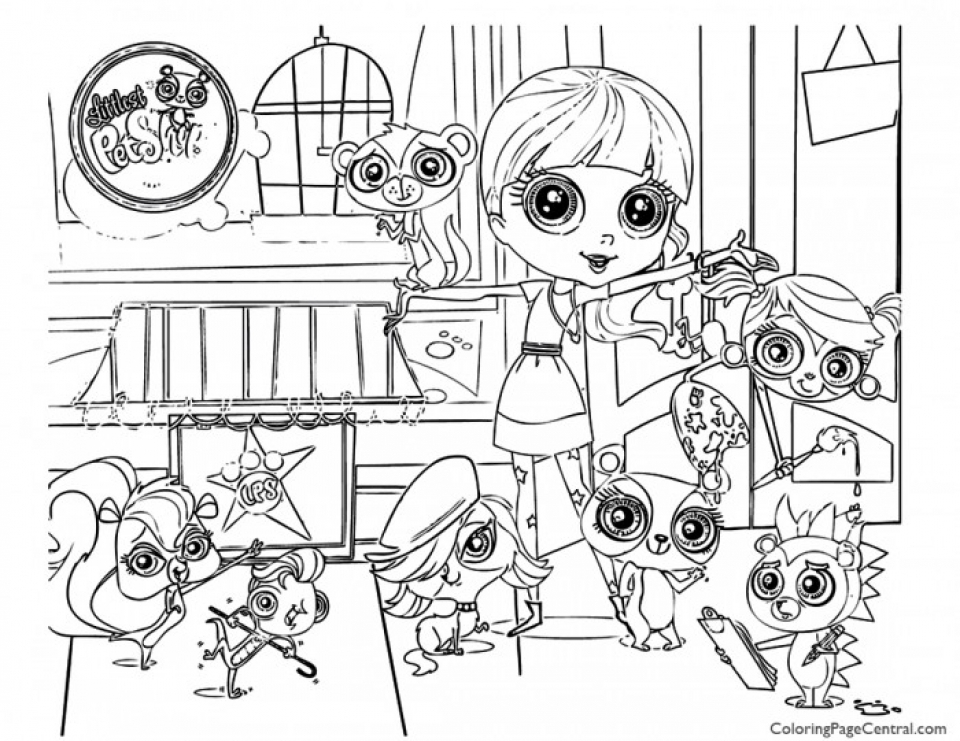 Littlest Pet Shop Kids Printable Coloring Pages   84027