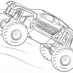 maximum destruction monster truck coloring page - 38721