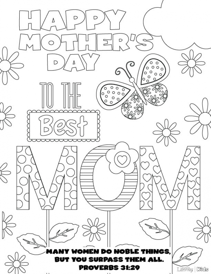 20 Free Printable Mother 39 s Day Coloring Pages