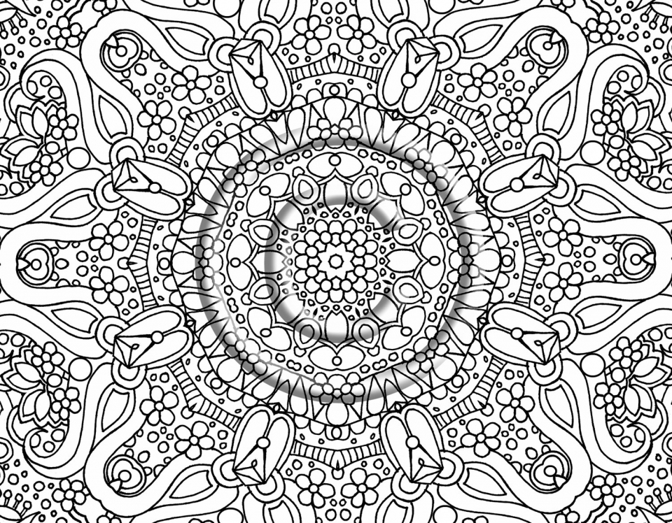 Coloring Pages Abstract Printable : Get this online abstract coloring pages for grown ups