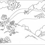 Online Coloring Pages of Barney and Friends for Kids   04602