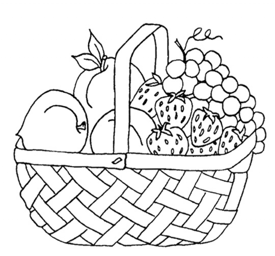 Online Fruit Coloring Pages   4019