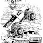 Online Monster Truck Coloring Pages   3069