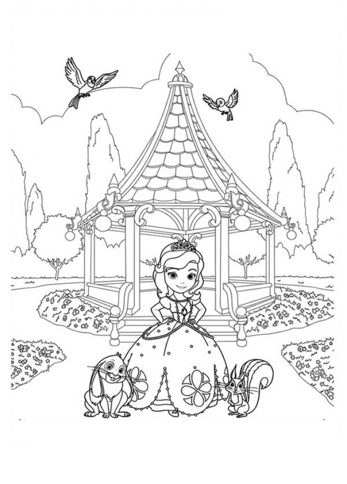 Get This Online Sofia The First Coloring Pages 28916