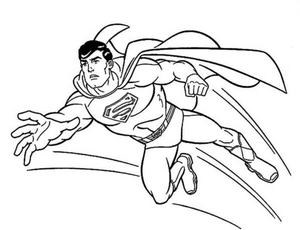 coloring pages superman - photo#19