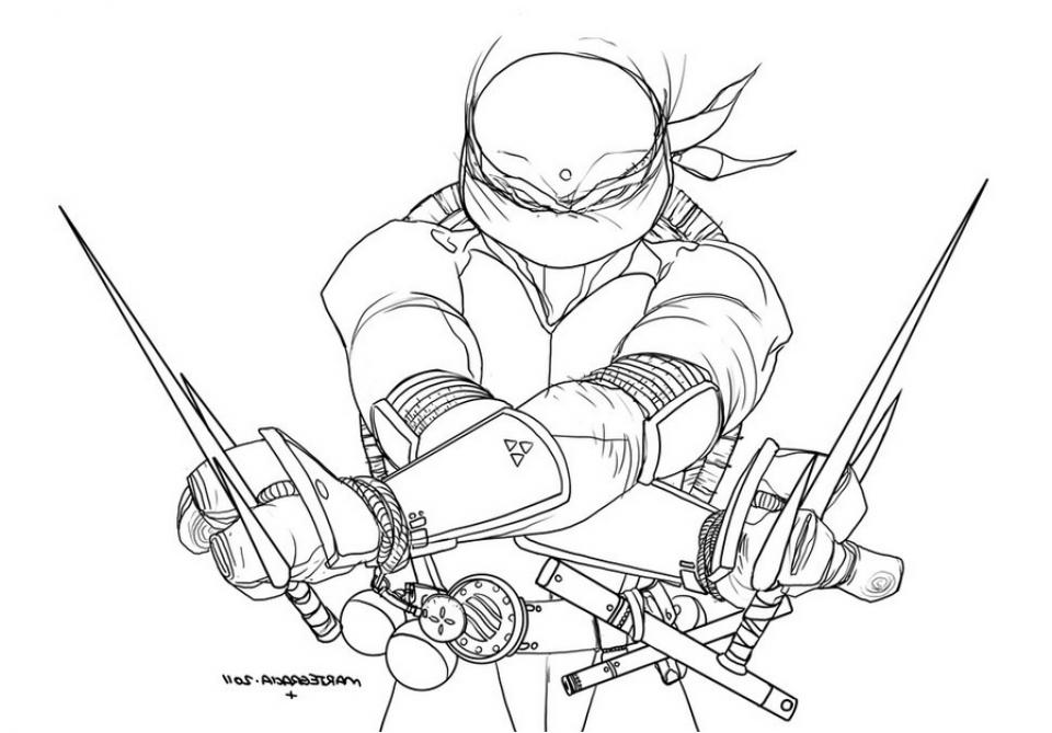 Online Teenage Mutant Ninja Turtles Coloring Pages   28917