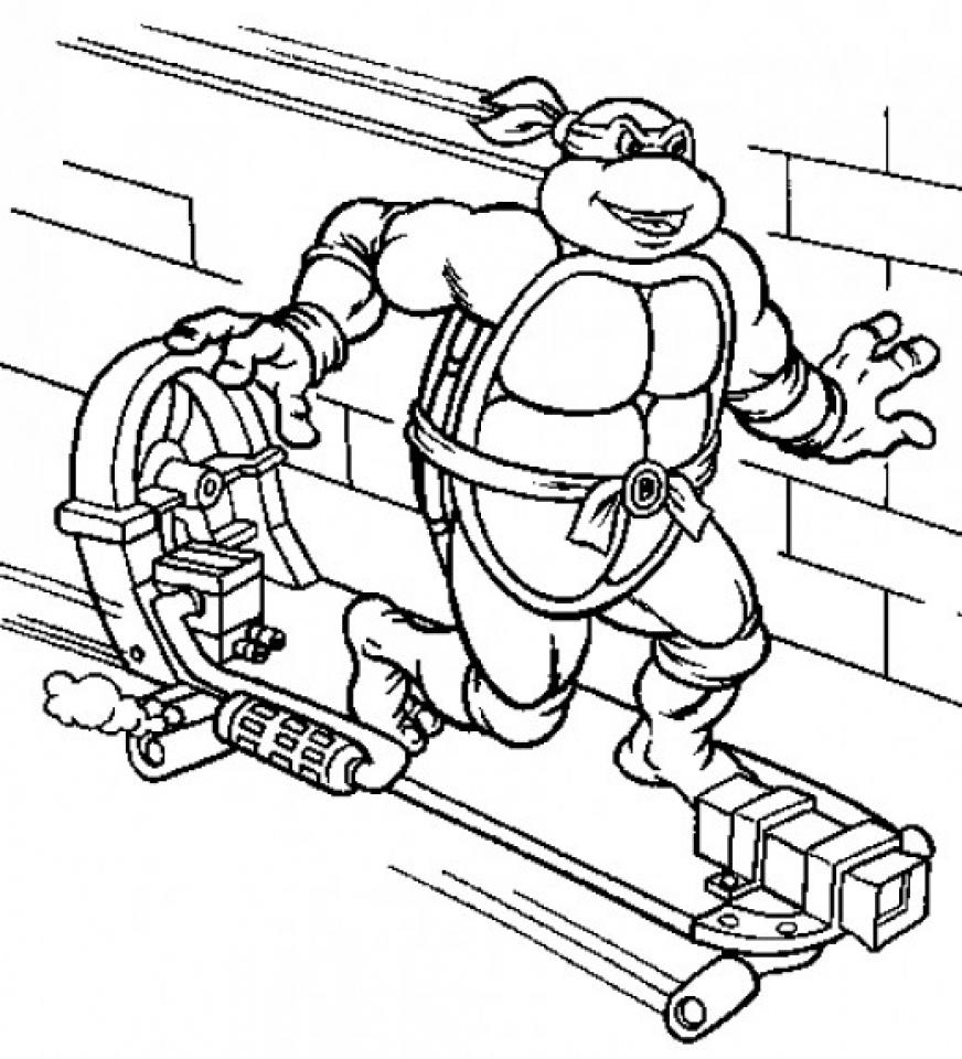 Online Teenage Mutant Ninja Turtles Coloring Pages   42197