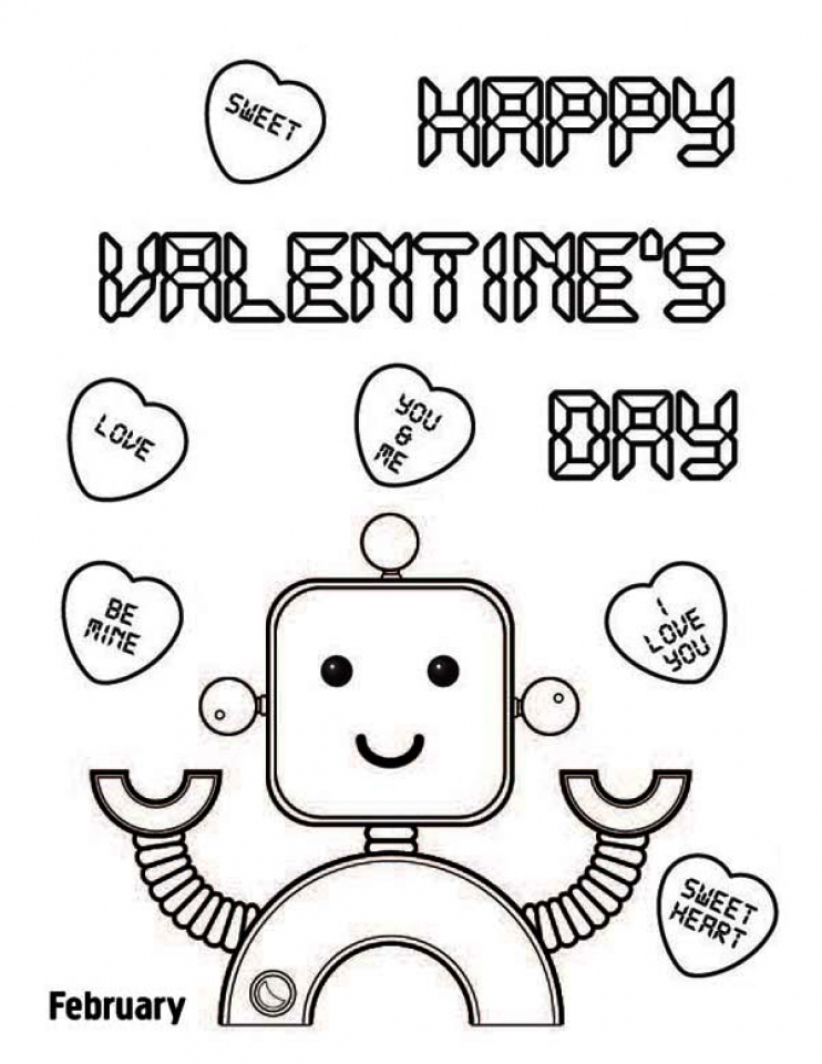 online valentine coloring pages - photo#26