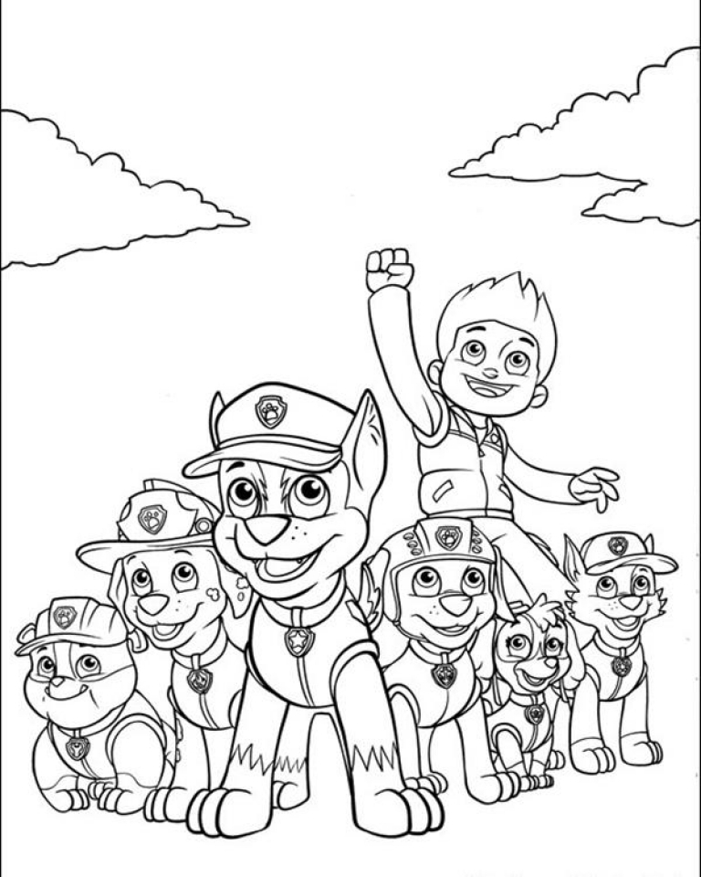 Get this paw patrol coloring pages for kids 32186 Coloring book for toddlers