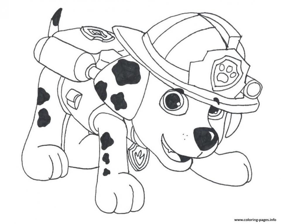 Get This Paw Patrol Preschool Coloring Pages To Print