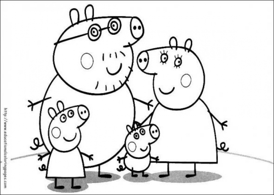 Peppa Pig Coloring Pages Free Printable   18204