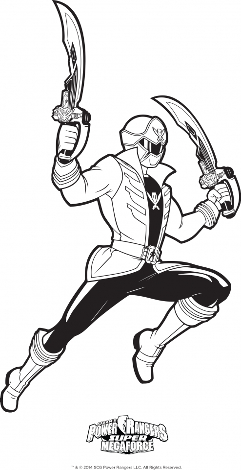 Power Rangers Megaforce Coloring Pages Free to Print   67041